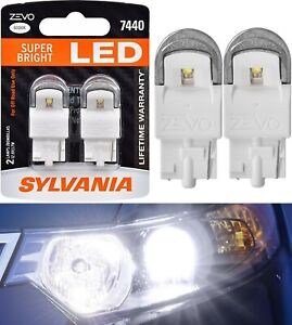 Sylvania ZEVO LED Light 7440 White 6000K Two Bulbs Front Turn Signal Upgrade OE