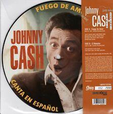 """ROCKABILLY: JOHNNY CASH IN SPANISH PIC DISC 7"""" RECORD - El Matador/Fuego De Amor"""
