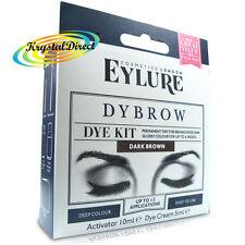 Eylure Dybrow Eye DARK BROWN Glossy Eyebrow Dye Kit Permanent Tint