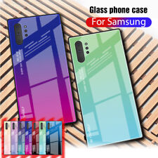 For Samsung Galaxy Note10 S 8 9 10 20 Plus Gradient Glass Hybrid Hard Case Cover