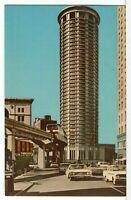 1970s The WASHINGTON PLAZA HOTEL & The Monorail, Seattle WA Postcard