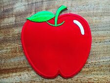 CUTE PRETTY MAROON APPLE Embroidered Iron on Patch