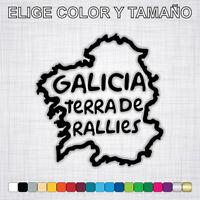 Vinilo adhesivo GALICIA TERRA DE RALLIES, pegatina, coche, moto, rally, decal.