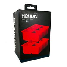 Houdini Ice Cube Mold Set Red of 2 Red Silicon