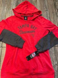 NWT Girls Tampa Bay Buccaneers Cute Red Layered Look Logo Hoodie XL 16