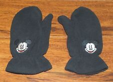 Walt Disney's 100% Polyester Toddler Size Black Mickey Mouse Mittens *Read*