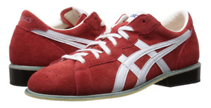 asics Weight Lifting Shoes 727 Red White Leather TOW727.2301 JAPAN