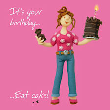 Eat Cake Cake Lover Chef Cook Blank Funny Mum Daughter Sister Aunt Birthday Card