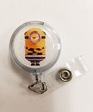 Despicable Me3 Minions, MEL Retractable Badge Name Tag ID Holder Glitter 3D