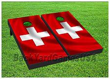 Vinyl Wraps Cornhole Boards Decals Switzerland Fans BagToss Game Stickers 401