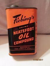 Prime Neatsfoot Oil Compound 1 Pint Metal Can 3/4 Full by Fiebing's Made-USA