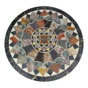 """36"""" Marble coffee center Table Top multi color Pietra Dura marquetry inlay art"""