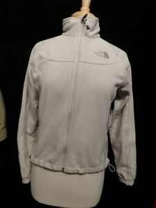 Women's The North Face Windwall Wind Stopper Fleece Jacket White Medium NICE