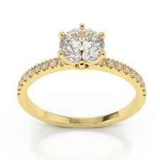 1.45 Ct Round Cut Diamond Engagement Wedding Rings 9k Yellow Gold Size K L M O