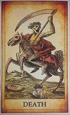 "Death Tarot GIANT 40""x24"" Poster Evil Art Devil hell Satan fortune psychic esp"