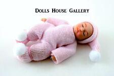 Sleeping Baby, Casa de muñecas en miniatura, Beanie Baby Doll, 1.12 Escala. Vivero