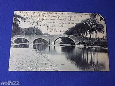 Post Card ~ The Bridge ~ Leeds Ny ~ with Stamp 1908