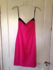 Express Womens 4 Pink Black Trim Convertible Strap-less Knee Length Dress New