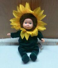 Anne Geddes 1999 Sunflower Doll Green Yellow Especially Kids Co. Unimax