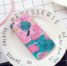 Luxury Cute Pink Cartoon Flamingo Soft Phone Case Cover For iPhone 7