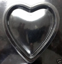 Valentine's Heart Box Bottom Only Chocolate Plastic Candy Soap Mold ECM V-663