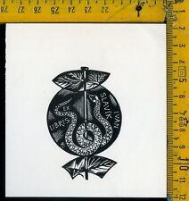 Ex Libris Originale Alexandro Radulescu c 108 Ivan Slavik