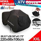 XXL Waterproof ATV Cover Storage Fit Polaris Honda Yamaha Can-Am Suzuki Kawasaki