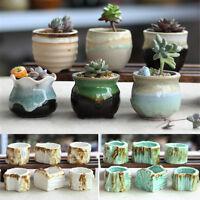 6 Ceramic Plant Pot Succulent Flower Planter Miniature Home Garden Bonsai Decor