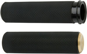 Arlen Ness Fusion Knurled Grips Brass Cable Style 07-332