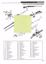 Winchester 50,59 Shotgun, 52B Target Rifle Exploded View/Parts List 2011 Ad