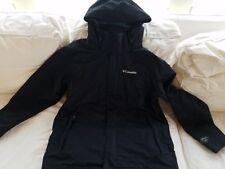 Columbia Mens L Interchange Omni Tech/Heat  Black and Blue Snowboard/Ski Jackets