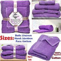 3 pcs Luxury Towels Bale Set Towel Bath, Hand & Face Towels 100% Egyptian Cotton