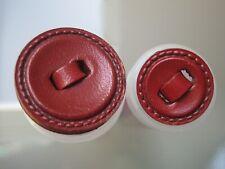 Leder-Knöpfe - Rot - 2 Größen zur Wahl -