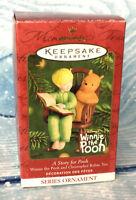 Hallmark Keepsake Ornament Story for Pooh 2001 Disney Classic Winnie Christopher