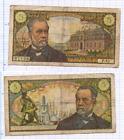 BILLET 5 FRANCS PASTEUR 1968 FRANCE VINTAGE BANKNOTE BANCONOTA FRANCIA