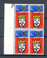"GB 1966 Christmas 3d - missing ""T"" SG 713c and MCF of short ""A"" in ""AND"", MNH"