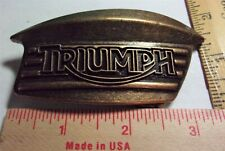 vintage Triumph buckle collectible old British motorcycle biker memorabilia