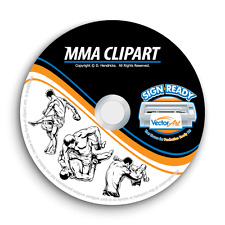 MMA CLIPART-VECTOR CLIP ART-VINYL CUTTER PLOTTER IMAGES & TSHIRT EPS GRAPHICS CD