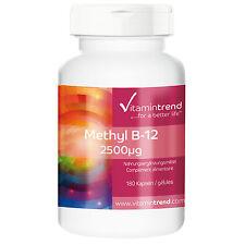 Methyl B12 2500µg - Methylcobalamin (36.36€/100g) 180 Kapseln - Vitamintrend