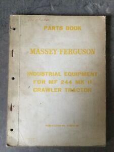 MASSEY FERGUSON 244 Mk2 CRAWLER TRACTOR PARTS MANUAL BROCHURE INDUSTRIAL MODEL