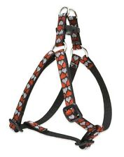 """Lupine Dog Step-In Harness 1/2"""" LOVE STRUCK 10""""-13"""" Hearts Silver Red Black New"""
