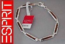 Esprit 925 Silber Armband Tigerauge braun Armkette UVP 85,90 edel Damen 19,5 cm