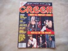 CREAM MAGAZINE FEB 1985 RATT MOTLEY CRUE KISS IRON MAIDEN DEEP PURPLE STONES