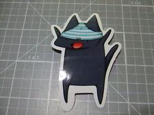 CAT UNDERWEAR ON HEAD  GLOSSY Sticker Skateboard/phone Bombit NEW