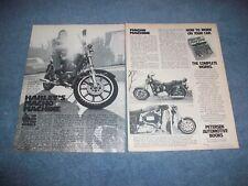 "1979 Harley-Davidson XLS-1000 Vintage Motorcycle Article ""Macho Machine"""