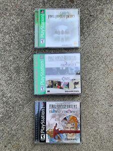 Playstation PS1 Final Fantasy Game lot tactics chronicles origins I II IV Chrono