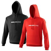 Ducati Corse Hoodie Biker Motorcycle Rider VARIOUS SIZES & COLOURS Text Version