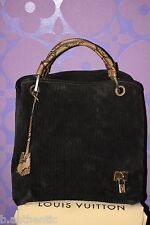 Louis Vuitton $4k+ Whisper GM Khol Embossed Monogram Suede Snakeskin *Limited*!!