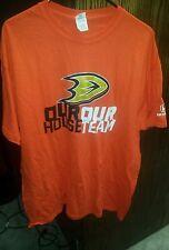 Anaheim Ducks Shirt OUR HOUSE OUR TEAM Ducks Orange T-shirt Mens size XL NWOT