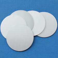 """10 Aluminum Stamping Tags - Fine Brushed Lite Grey Finish - 1 1/2"""" Disc - Mt262"""